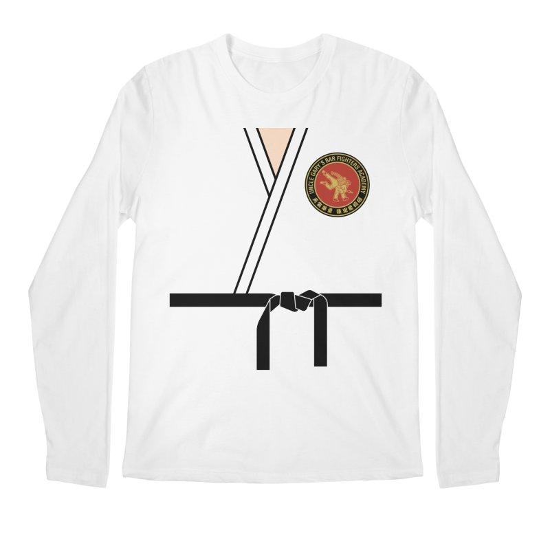 UNCLE GARY'S BAR FIGHTERS ACADEMY Men's Regular Longsleeve T-Shirt by Teenage Stepdad