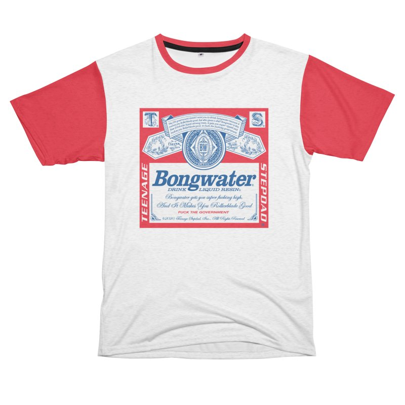 BONGWATER Classic Label Bootleg Men's French Terry T-Shirt Cut & Sew by Teenage Stepdad