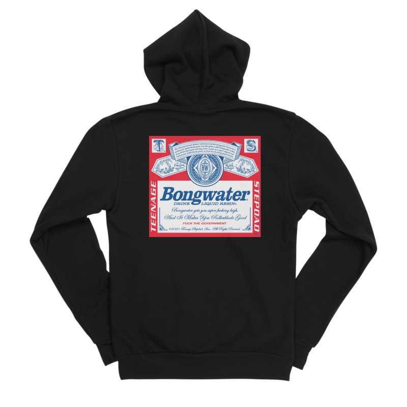 BONGWATER Classic Label Bootleg Men's Sponge Fleece Zip-Up Hoody by Teenage Stepdad