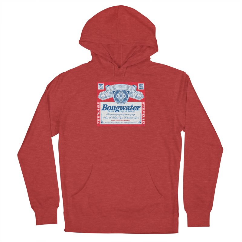 BONGWATER Classic Label Bootleg Men's French Terry Pullover Hoody by Teenage Stepdad
