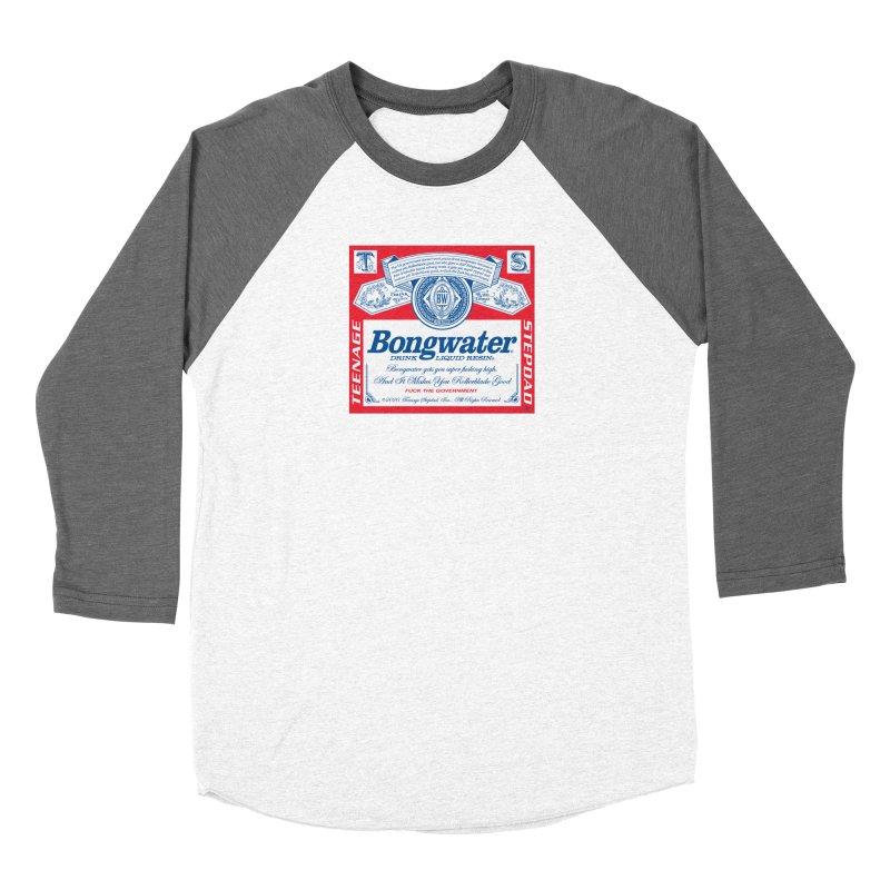 BONGWATER Classic Label Bootleg Women's Baseball Triblend Longsleeve T-Shirt by Teenage Stepdad