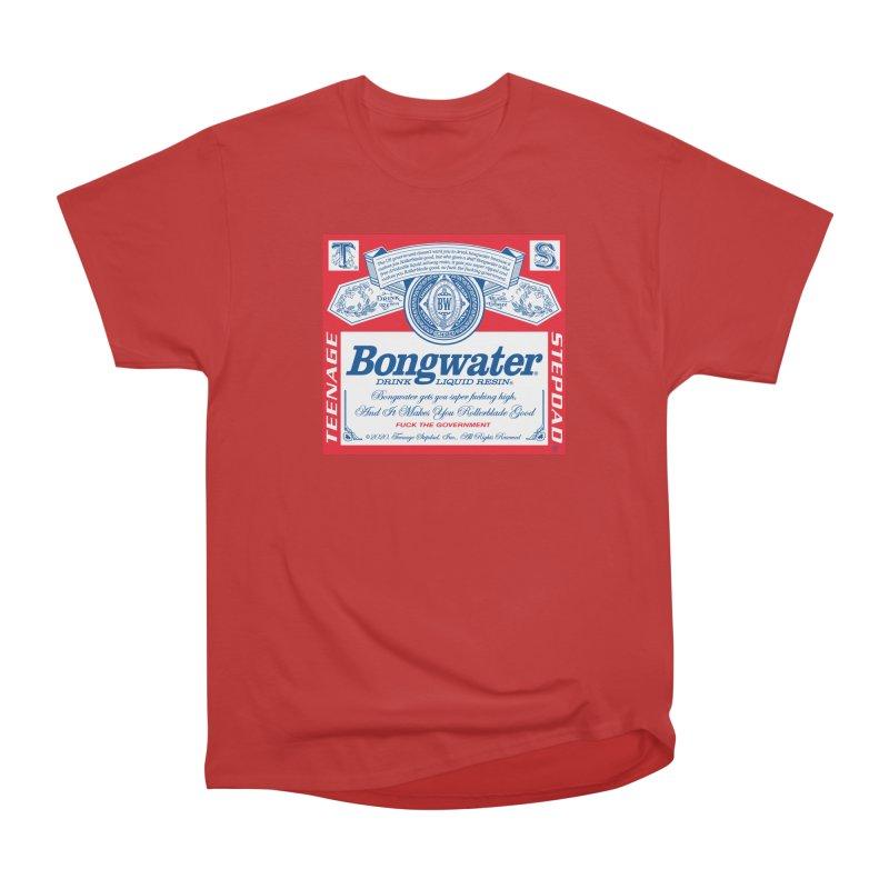 BONGWATER Classic Label Bootleg Women's Heavyweight Unisex T-Shirt by Teenage Stepdad