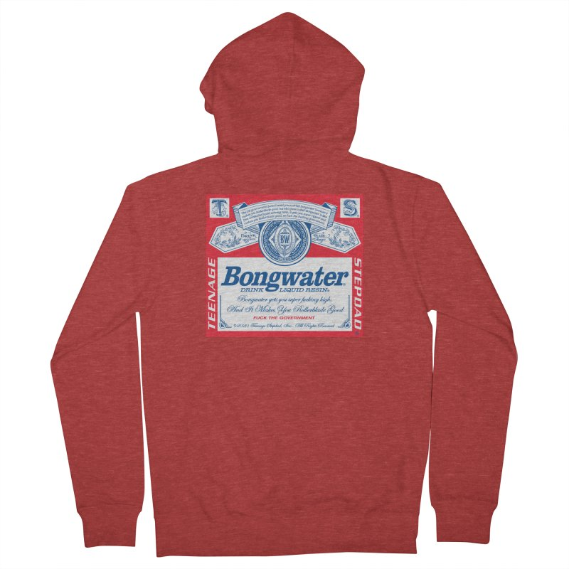 BONGWATER Classic Label Bootleg Men's French Terry Zip-Up Hoody by Teenage Stepdad