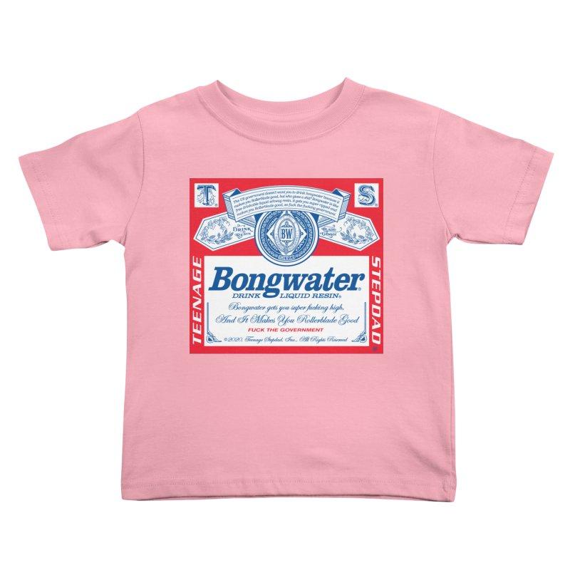 BONGWATER Classic Label Bootleg Kids Toddler T-Shirt by Teenage Stepdad