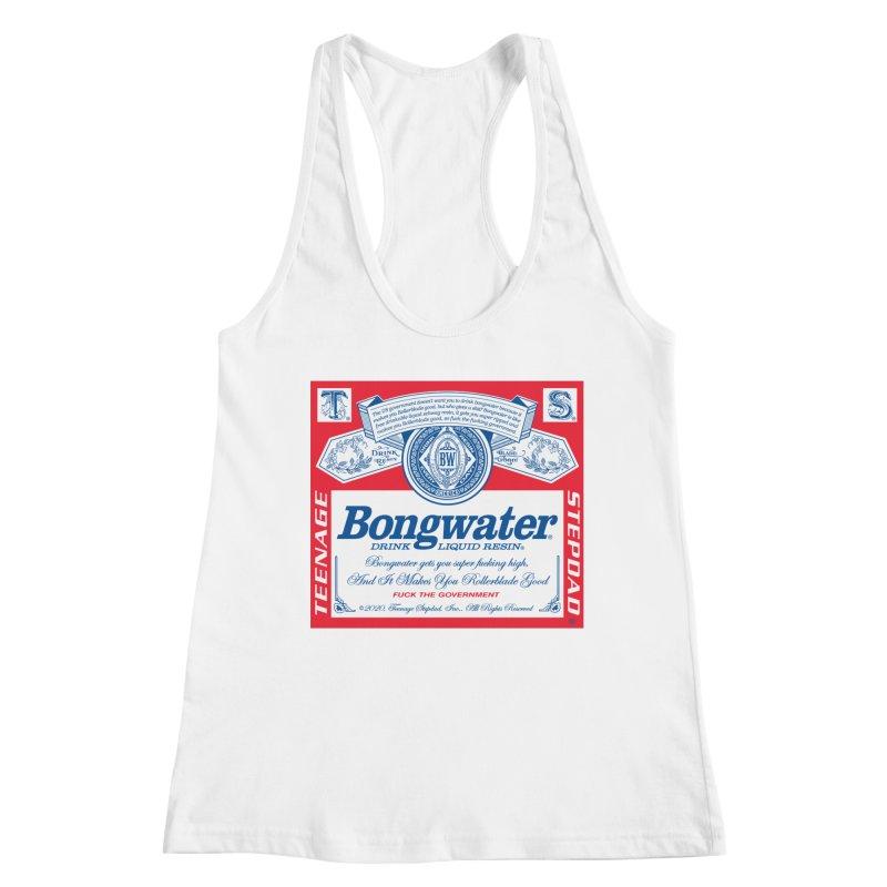 BONGWATER Classic Label Bootleg Women's Racerback Tank by Teenage Stepdad