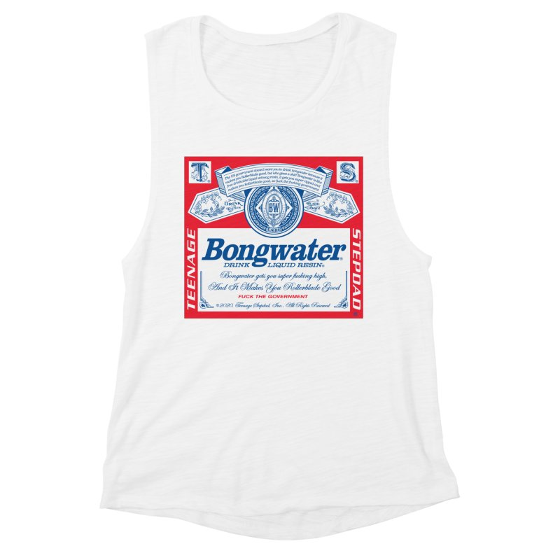 BONGWATER Classic Label Bootleg Women's Muscle Tank by Teenage Stepdad