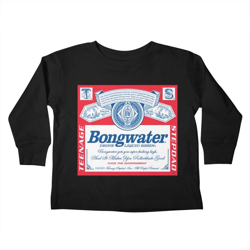 BONGWATER Classic Label Bootleg Kids Toddler Longsleeve T-Shirt by Teenage Stepdad