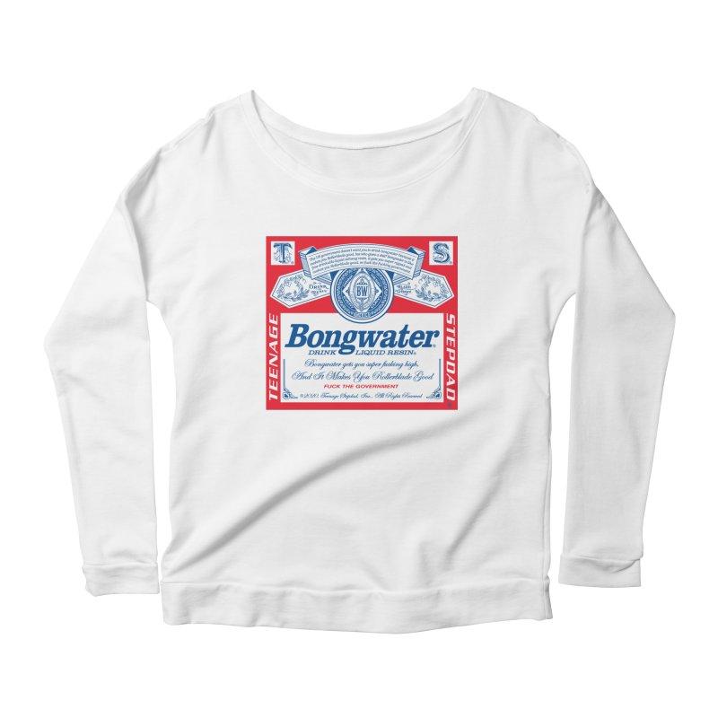 BONGWATER Classic Label Bootleg Women's Scoop Neck Longsleeve T-Shirt by Teenage Stepdad