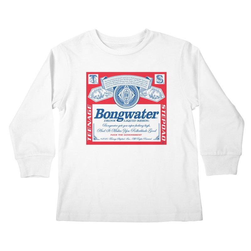 BONGWATER Classic Label Bootleg Kids Longsleeve T-Shirt by Teenage Stepdad