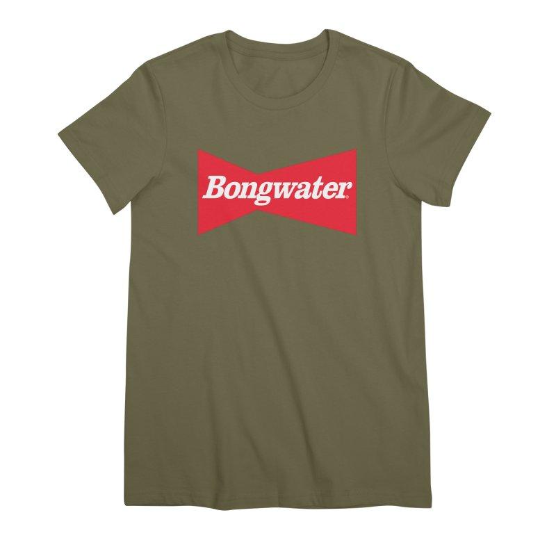 BONGWATER Classic Bowtie Logo Bootleg Women's Premium T-Shirt by Teenage Stepdad