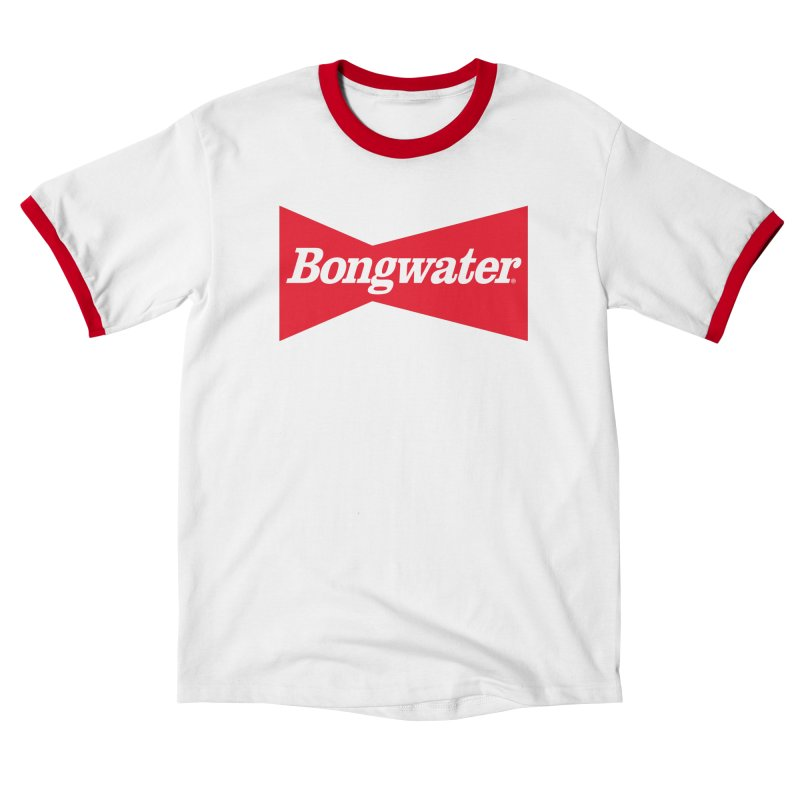 BONGWATER Classic Bowtie Logo Bootleg in Men's Ringer T-Shirt White / Red by Teenage Stepdad