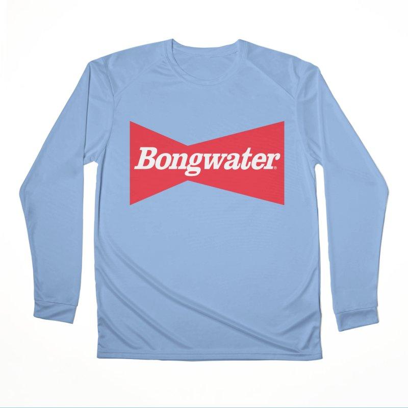 BONGWATER Classic Bowtie Logo Bootleg Men's Performance Longsleeve T-Shirt by Teenage Stepdad