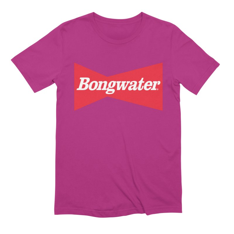 BONGWATER Classic Bowtie Logo Bootleg Men's Extra Soft T-Shirt by Teenage Stepdad