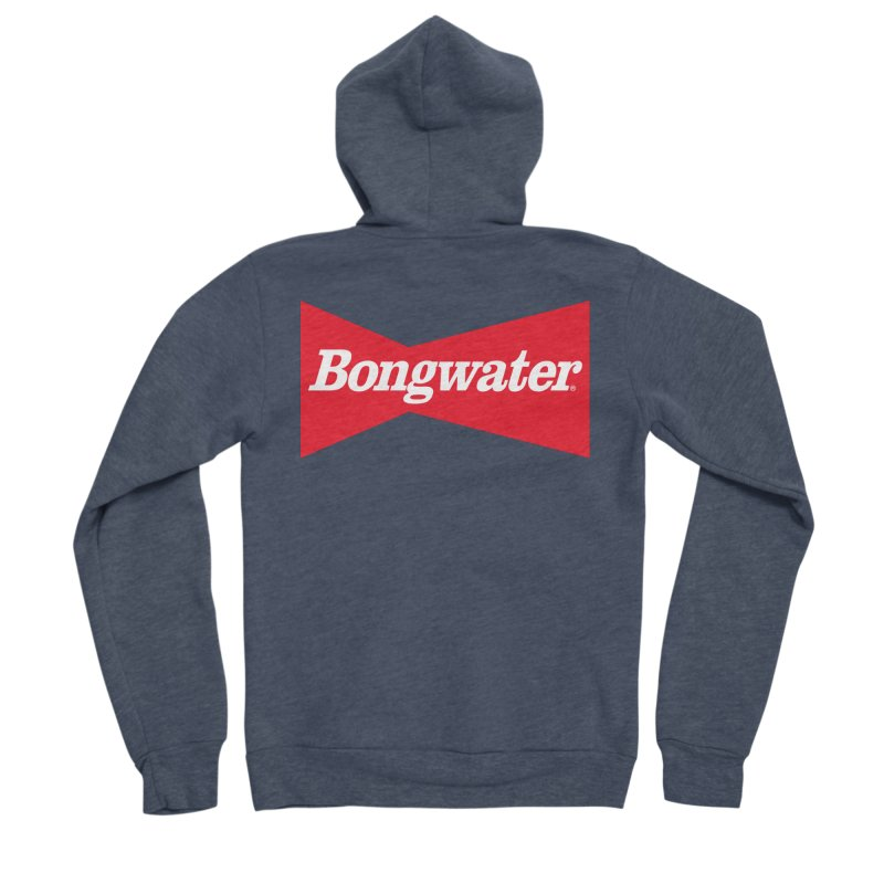 BONGWATER Classic Bowtie Logo Bootleg Women's Sponge Fleece Zip-Up Hoody by Teenage Stepdad