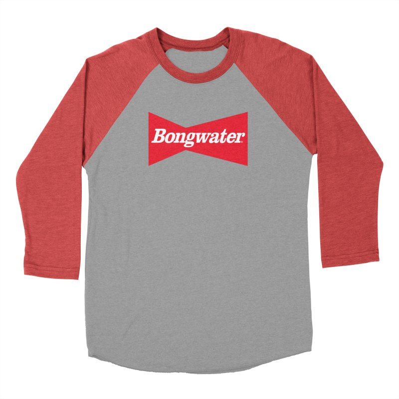 BONGWATER Classic Bowtie Logo Bootleg Women's Baseball Triblend Longsleeve T-Shirt by Teenage Stepdad