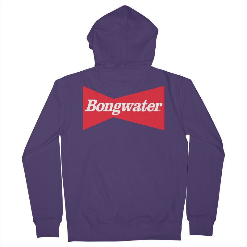 BONGWATER Classic Bowtie Logo Bootleg Women's French Terry Zip-Up Hoody by Teenage Stepdad