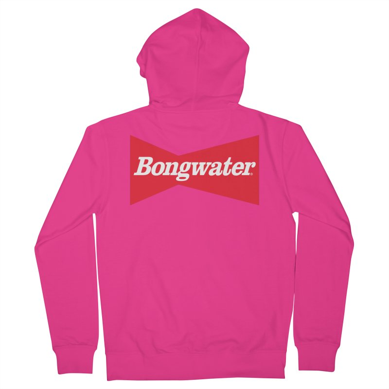 BONGWATER Classic Bowtie Logo Bootleg Men's French Terry Zip-Up Hoody by Teenage Stepdad
