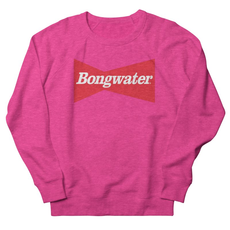 BONGWATER Classic Bowtie Logo Bootleg Women's French Terry Sweatshirt by Teenage Stepdad