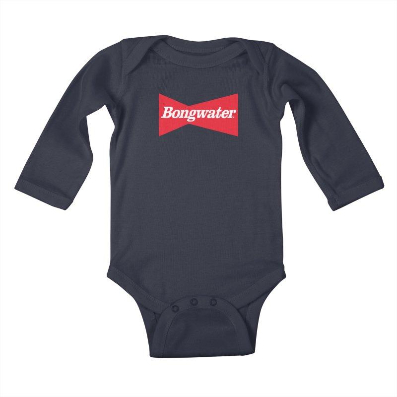 BONGWATER Classic Bowtie Logo Bootleg Kids Baby Longsleeve Bodysuit by Teenage Stepdad