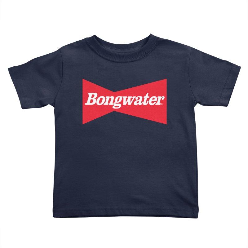 BONGWATER Classic Bowtie Logo Bootleg Kids Toddler T-Shirt by Teenage Stepdad