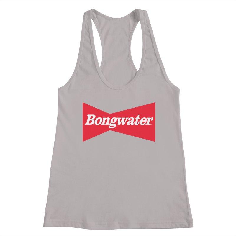 BONGWATER Classic Bowtie Logo Bootleg Women's Racerback Tank by Teenage Stepdad