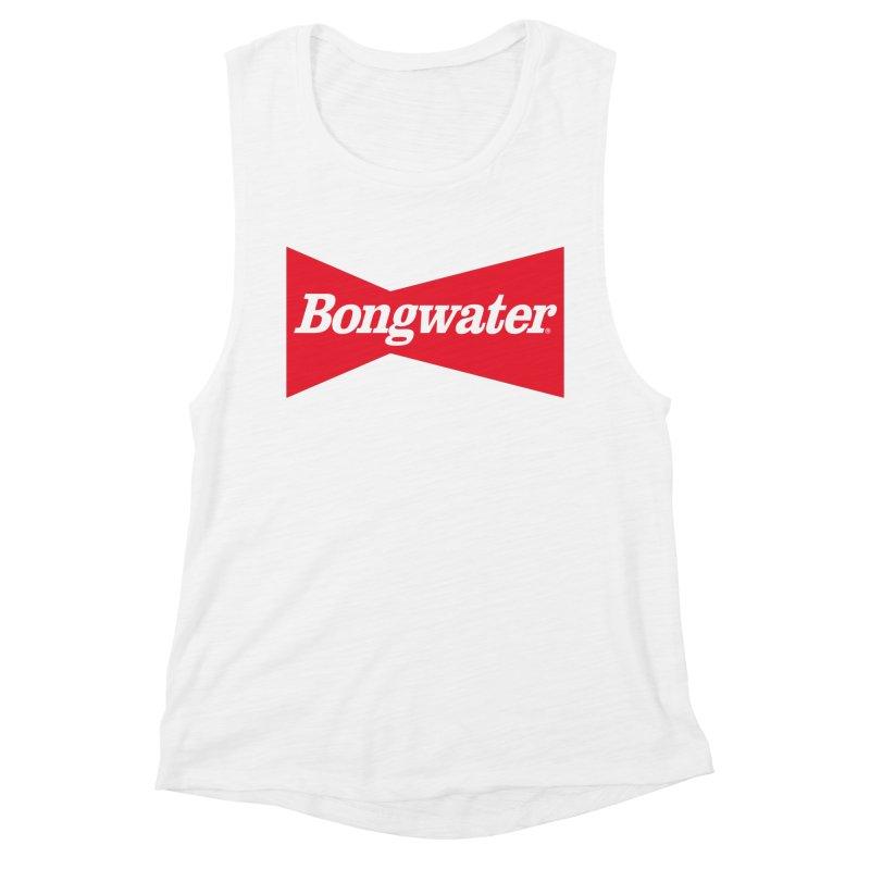 BONGWATER Classic Bowtie Logo Bootleg Women's Muscle Tank by Teenage Stepdad