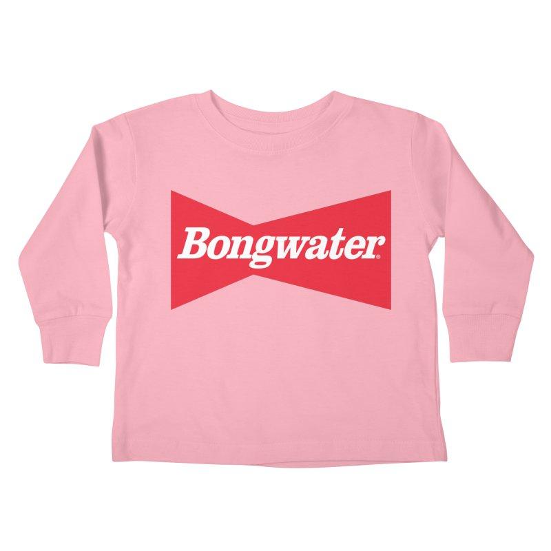 BONGWATER Classic Bowtie Logo Bootleg Kids Toddler Longsleeve T-Shirt by Teenage Stepdad