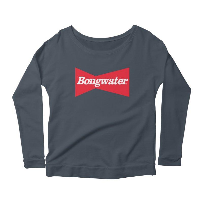 BONGWATER Classic Bowtie Logo Bootleg Women's Scoop Neck Longsleeve T-Shirt by Teenage Stepdad