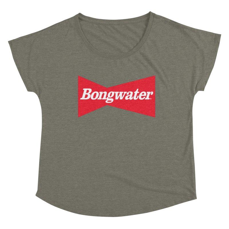 BONGWATER Classic Bowtie Logo Bootleg Women's Dolman Scoop Neck by Teenage Stepdad