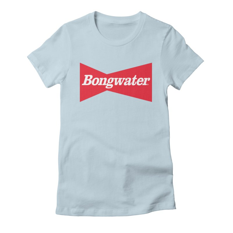 BONGWATER Classic Bowtie Logo Bootleg Women's Fitted T-Shirt by Teenage Stepdad