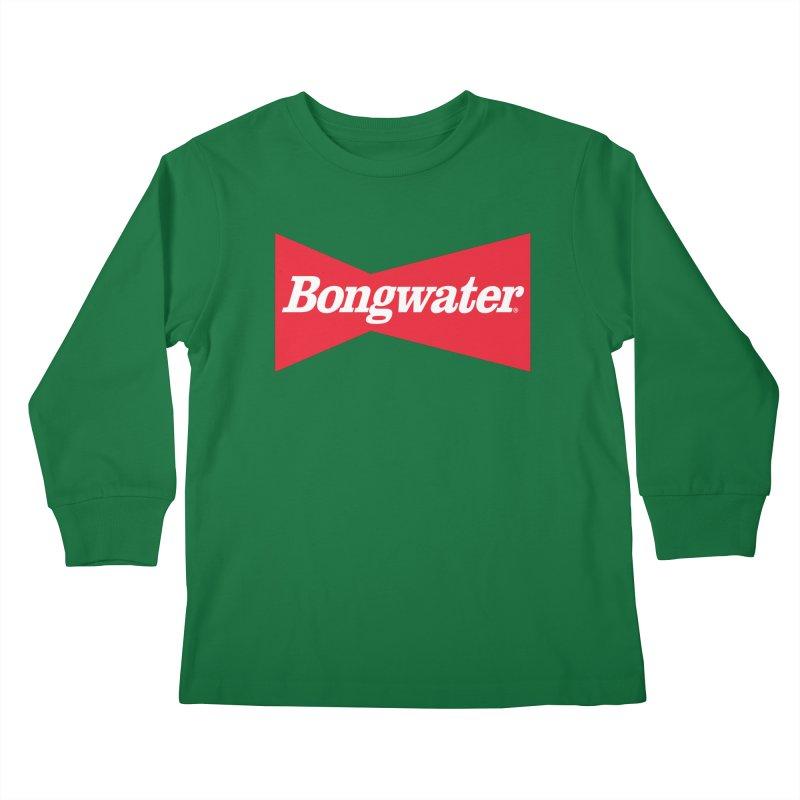 BONGWATER Classic Bowtie Logo Bootleg Kids Longsleeve T-Shirt by Teenage Stepdad