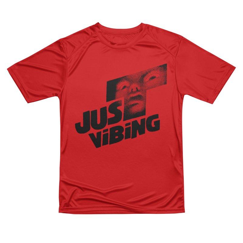 JUST VIBING Men's Performance T-Shirt by Teenage Stepdad