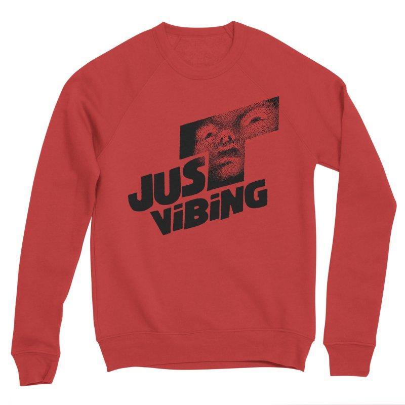 JUST VIBING Men's Sponge Fleece Sweatshirt by Teenage Stepdad