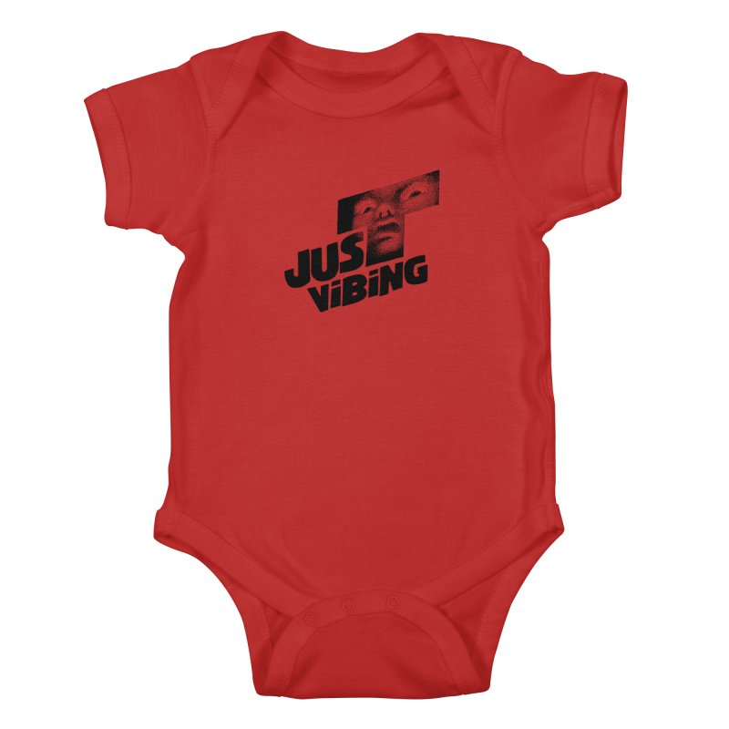 JUST VIBING Kids Baby Bodysuit by Teenage Stepdad