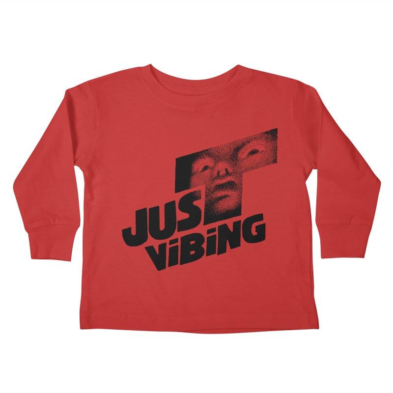 JUST VIBING Kids Toddler Longsleeve T-Shirt by Teenage Stepdad