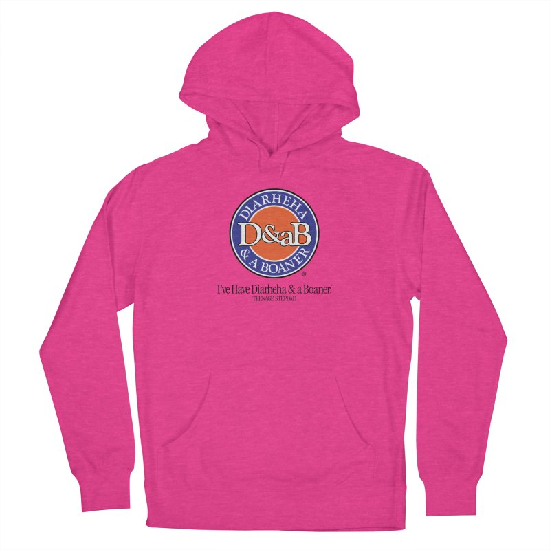 D&aB DIARHEHA & A BOANER Men's French Terry Pullover Hoody by Teenage Stepdad