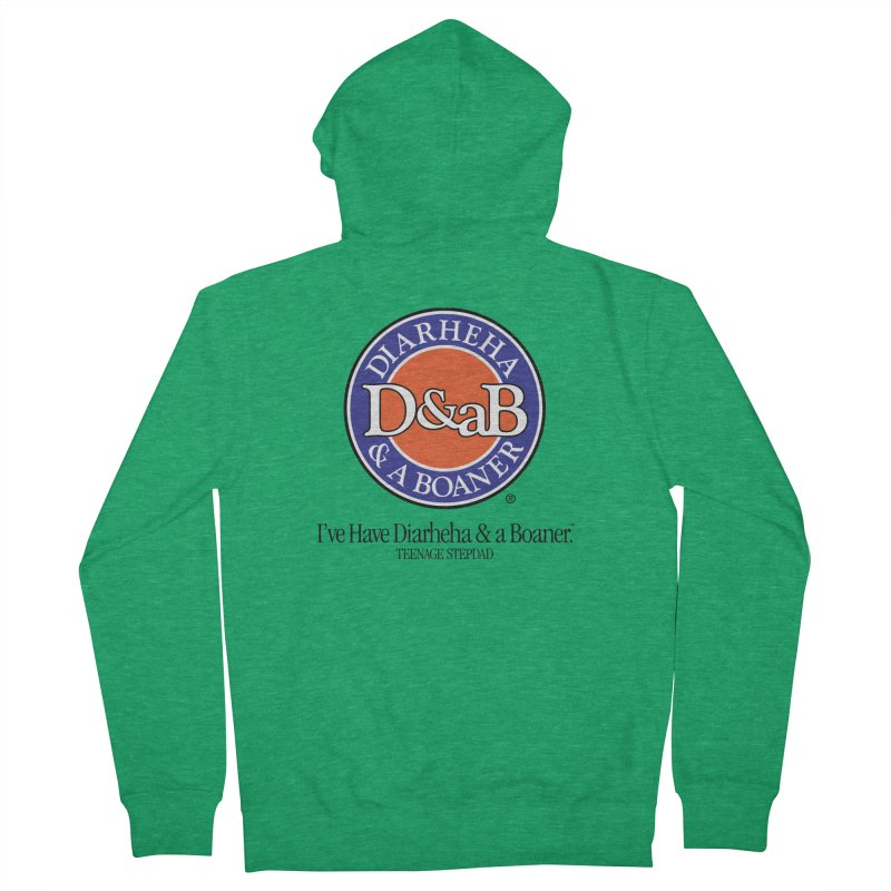 D&aB DIARHEHA & A BOANER Men's French Terry Zip-Up Hoody by Teenage Stepdad