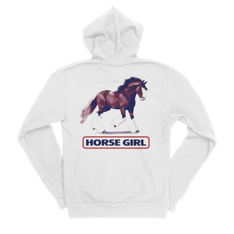 HORSE GIRL Men's Sponge Fleece Zip-Up Hoody by Teenage Stepdad