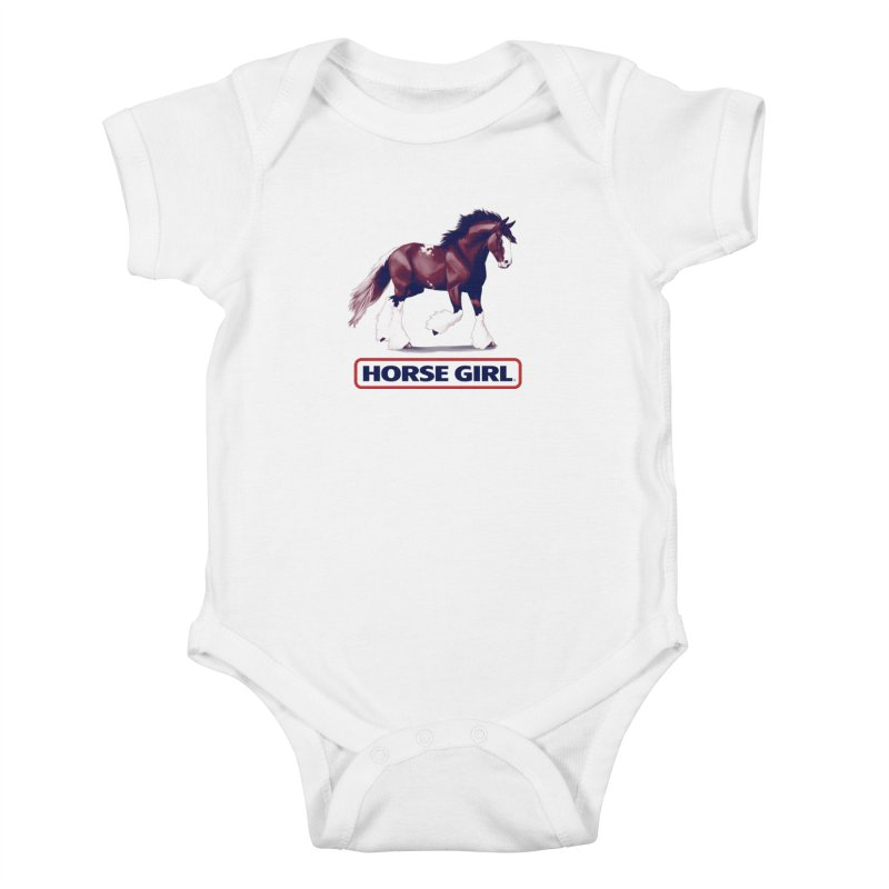 HORSE GIRL Kids Baby Bodysuit by Teenage Stepdad