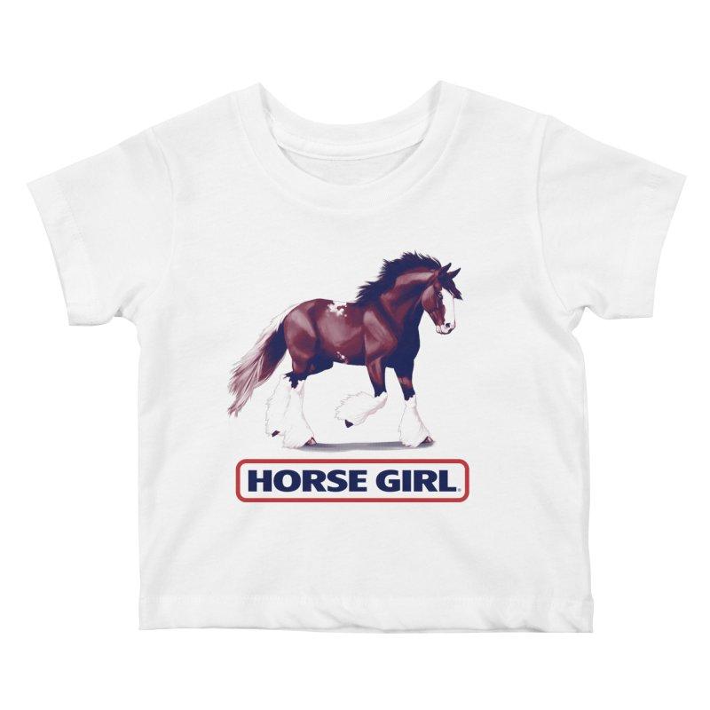 HORSE GIRL Kids Baby T-Shirt by Teenage Stepdad