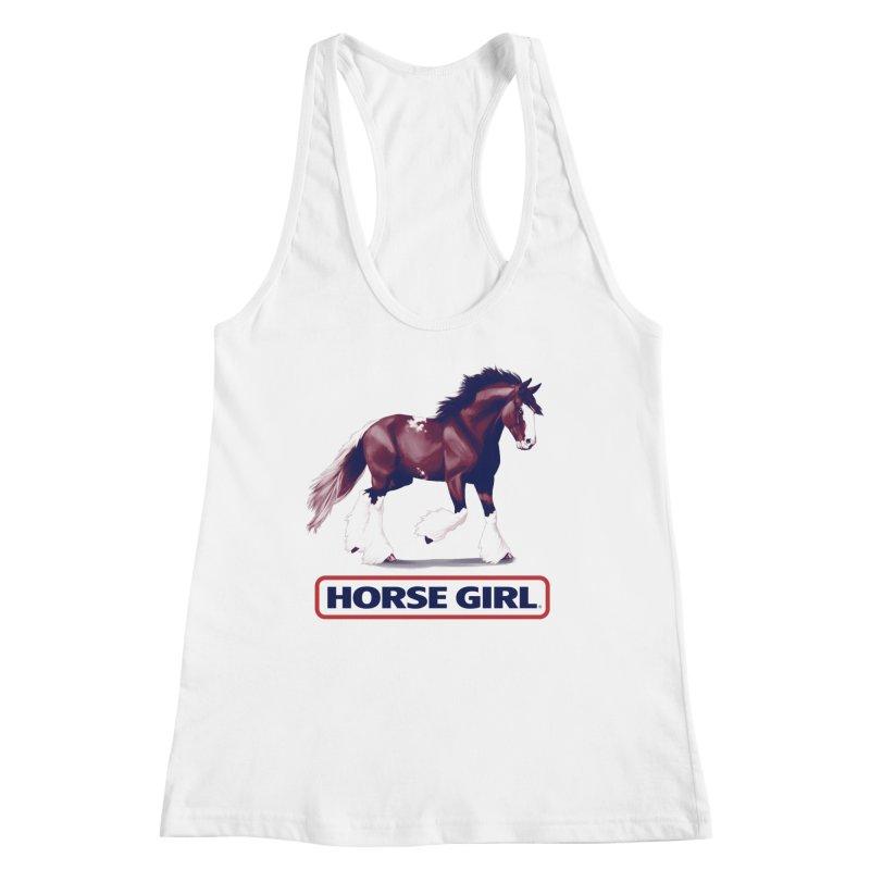 HORSE GIRL Women's Racerback Tank by Teenage Stepdad