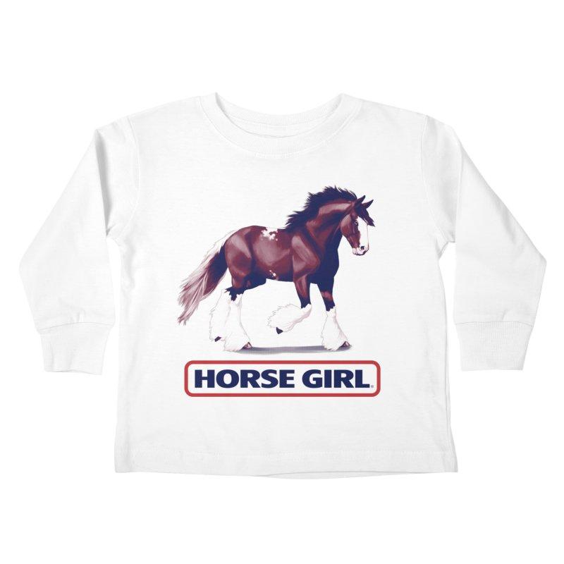 HORSE GIRL Kids Toddler Longsleeve T-Shirt by Teenage Stepdad