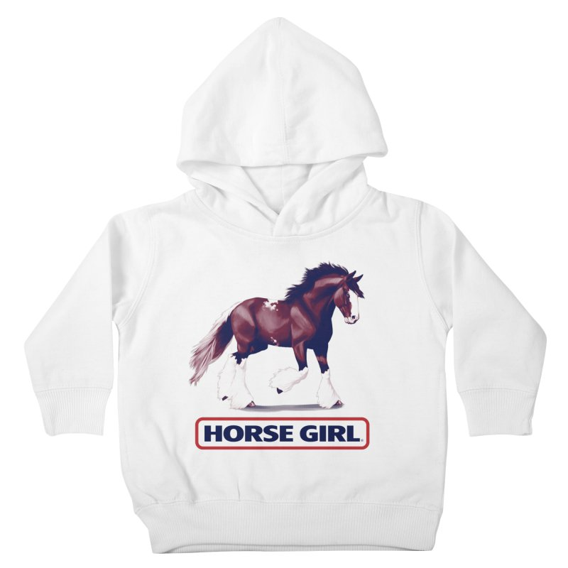 HORSE GIRL Kids Toddler Pullover Hoody by Teenage Stepdad