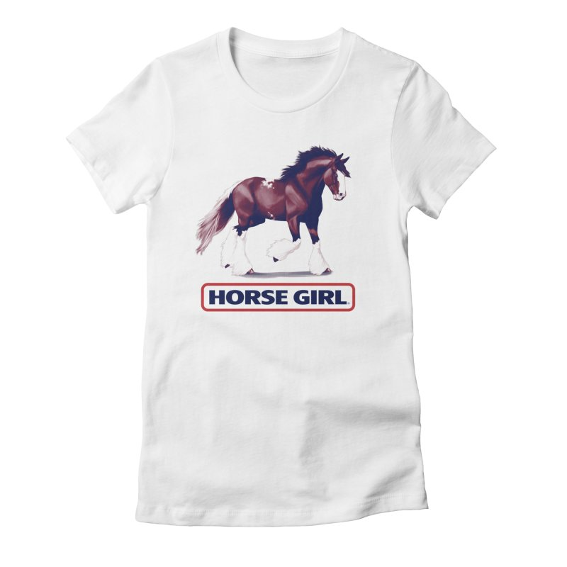 HORSE GIRL Women's Fitted T-Shirt by Teenage Stepdad