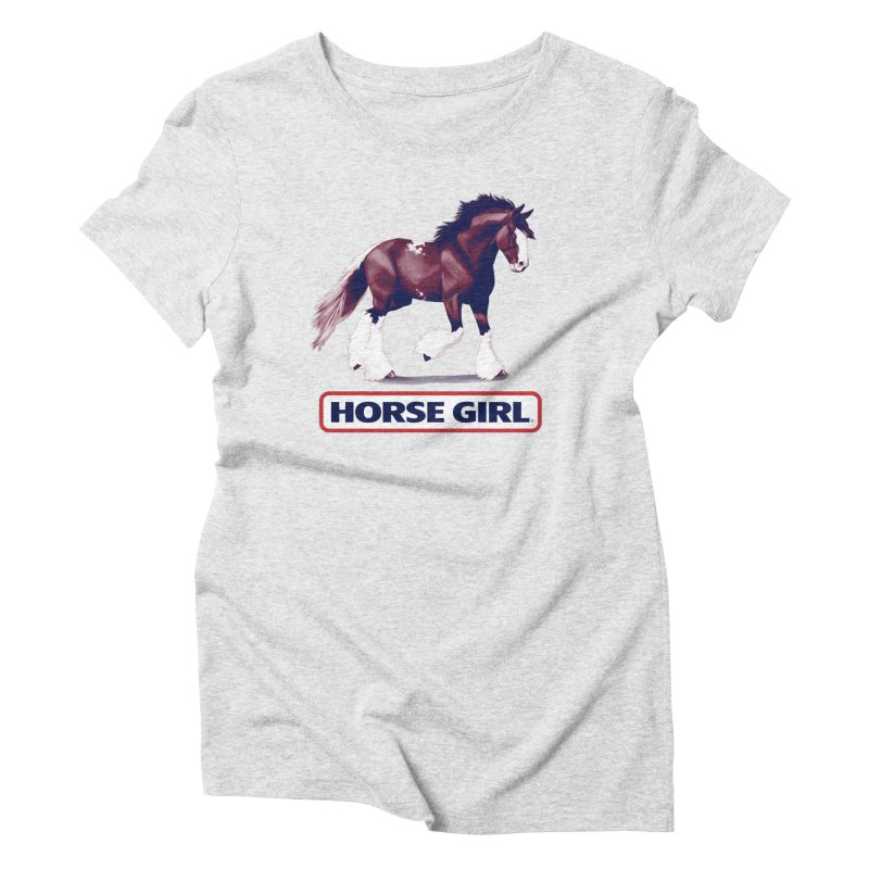 HORSE GIRL Women's Triblend T-Shirt by Teenage Stepdad