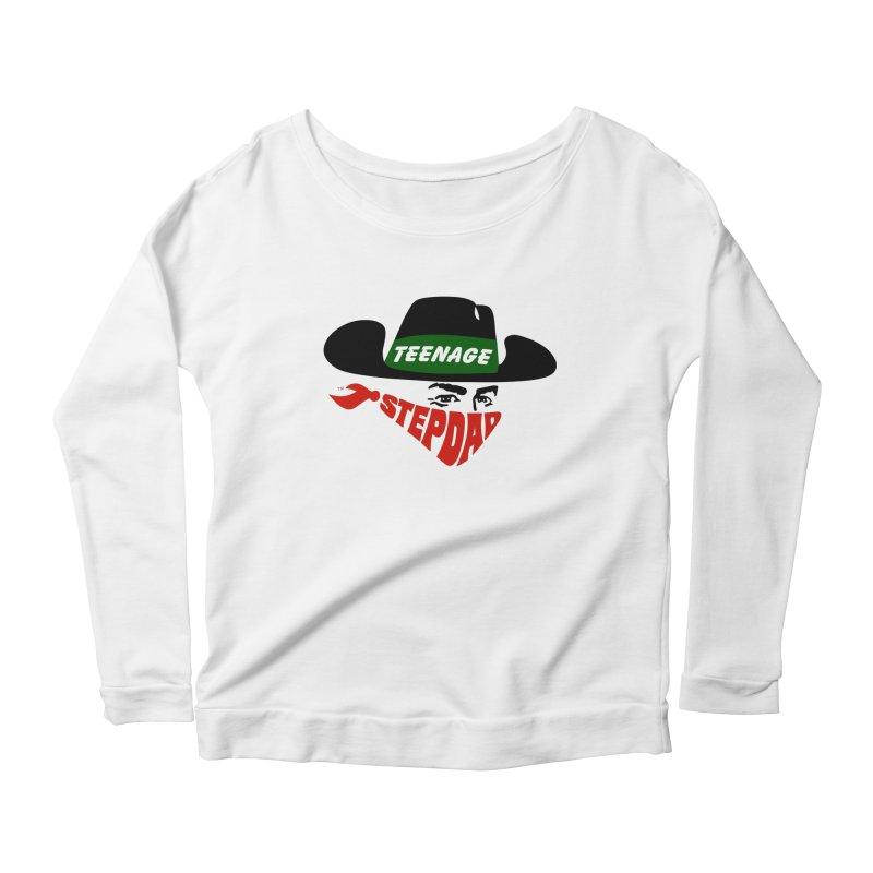 F*CK IT, MASK ON Women's Scoop Neck Longsleeve T-Shirt by Teenage Stepdad