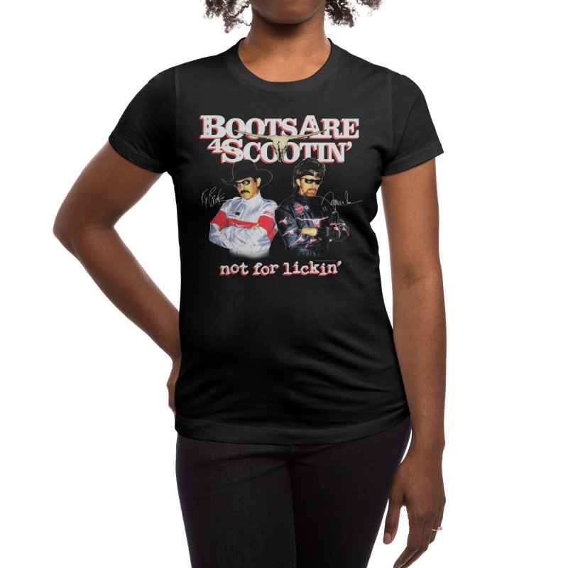 BOOTS AIN'T FOR LICKIN' Women's T-Shirt by Teenage Stepdad Shop | 90s Inspired Apparel
