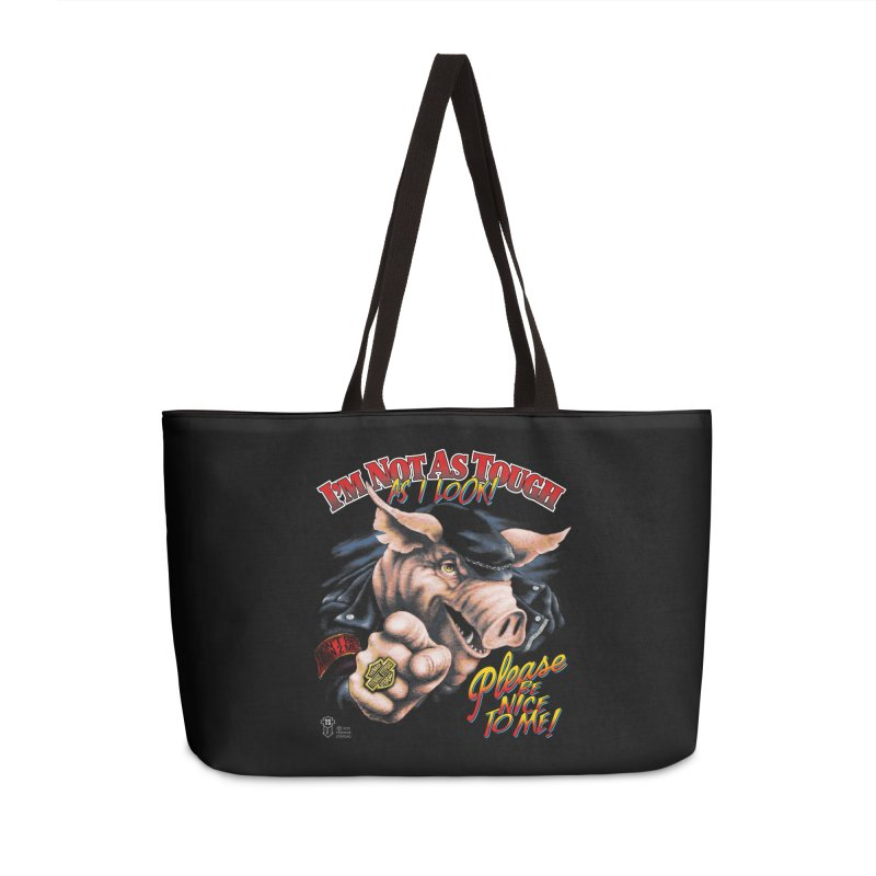 PLEASE BE NICE TO ME Accessories Bag by Teenage Stepdad