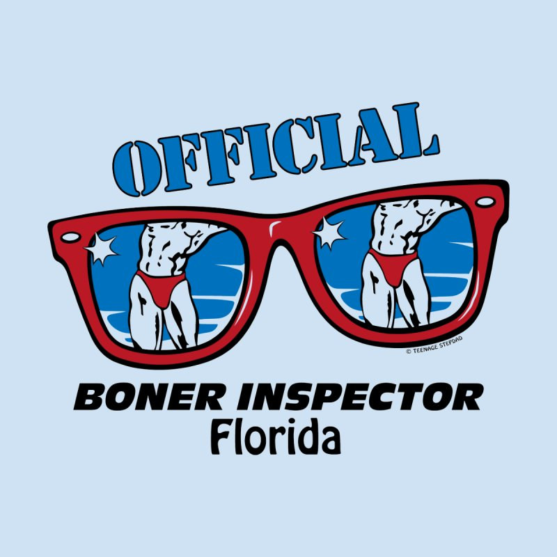 OFFICIAL BONER INSPECTOR Florida Men's T-Shirt by Teenage Stepdad Shop | 90s Inspired Apparel