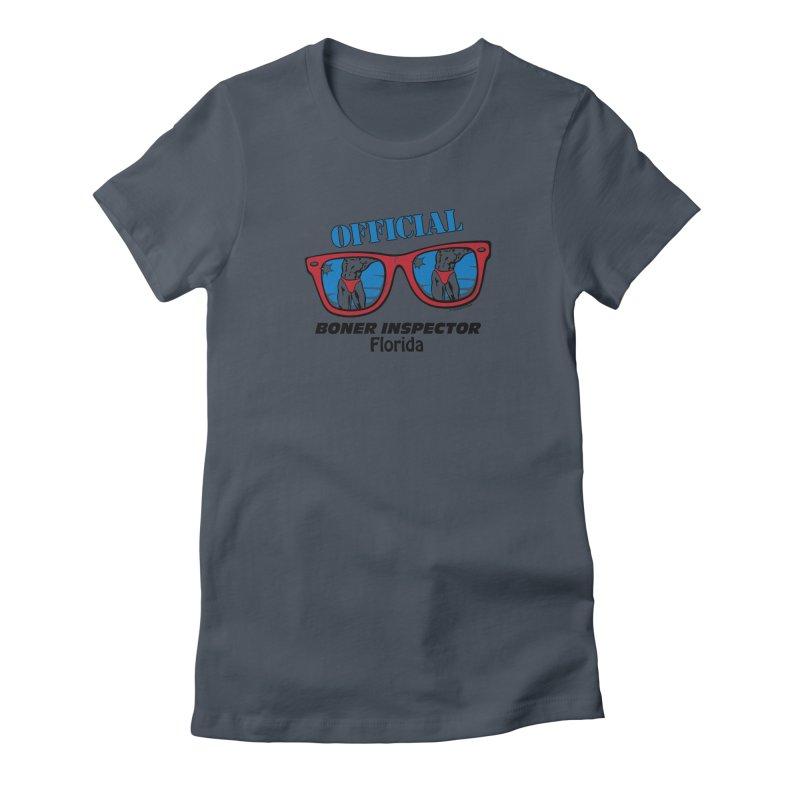 OFFICIAL BONER INSPECTOR Florida Women's T-Shirt by Teenage Stepdad Shop | 90s Inspired Apparel